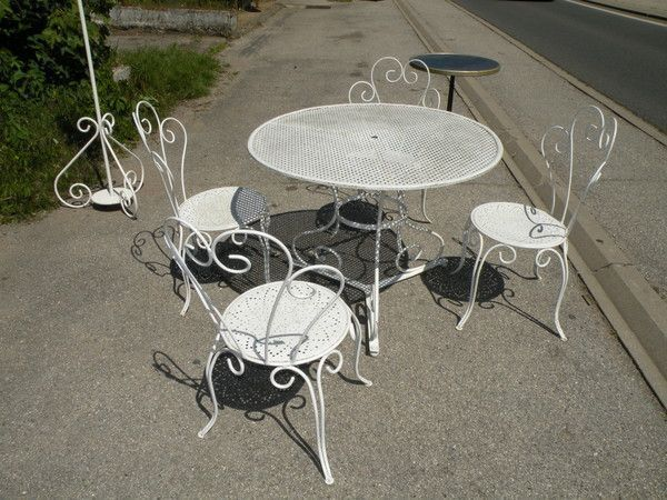 Ancienne table de jardin 4 chaises for Recherche table de jardin