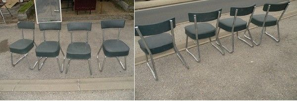 4 chaises de bureau industriel pullman a sprin filled 1960 chaise de bureau industrielle 1960 - Chaise bureau industriel ...