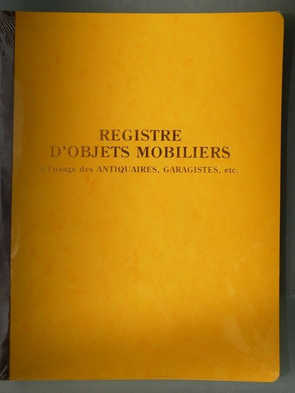 livre de police registre d 39 objets mobiliers 80 pages. Black Bedroom Furniture Sets. Home Design Ideas