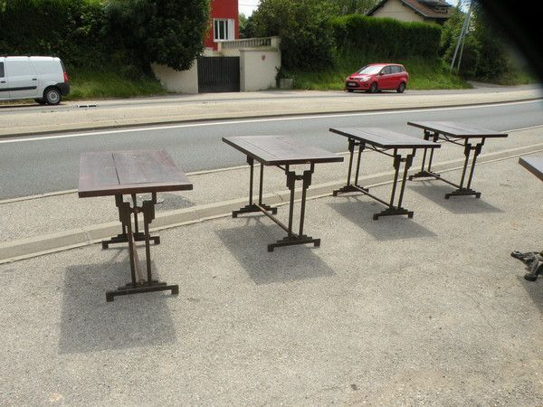 4 Table Bistrot Art Deco Charlionais Panassier 1930