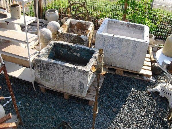 Grande auge bac abreuvoir en pierre xixe deco jardin for Bac pierre jardin