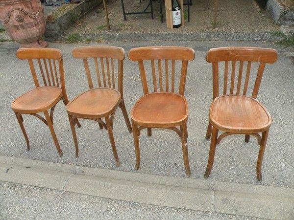 4 chaises baumann for Chaise bistrot baumann prix