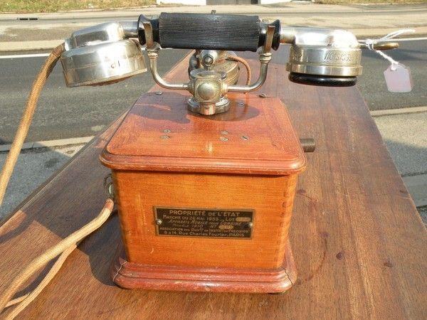ancien telephone type 1910. Black Bedroom Furniture Sets. Home Design Ideas