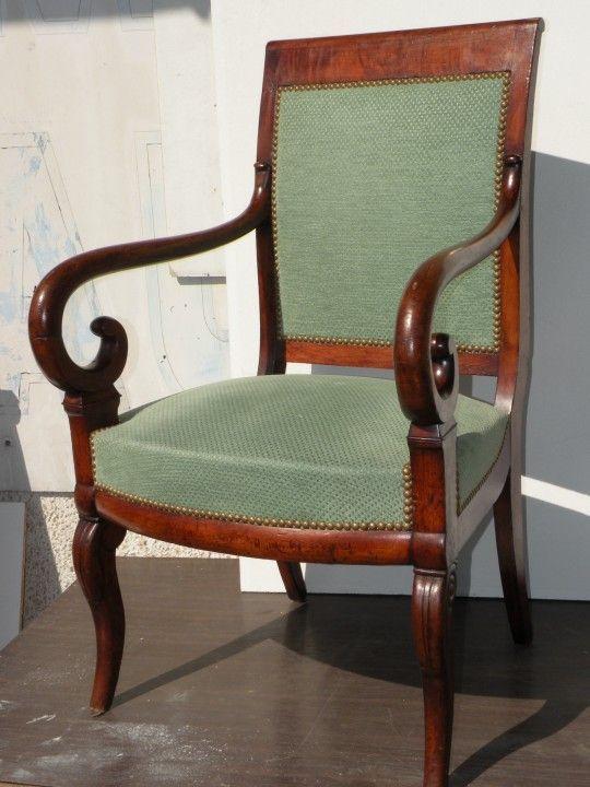 fauteuil de bureau en acajou d epoque 1er empire. Black Bedroom Furniture Sets. Home Design Ideas