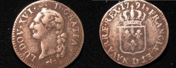 Pi ce de monnaie sol ou sou louis xvi 1791 rare piece louis 16 - Sol en piece de monnaie ...
