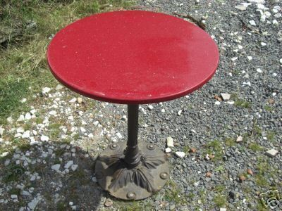 Ancienne table bistrot ronde pied en fonte - Table bistrot marbre ronde pied fonte ...